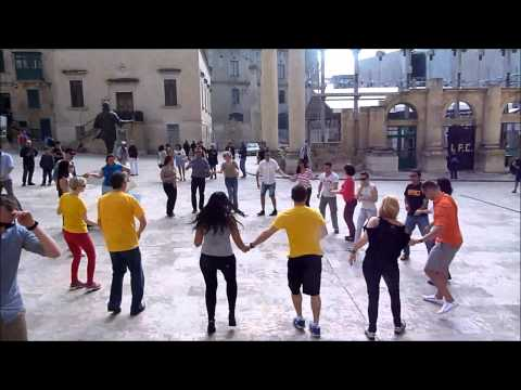 International Rueda De Casino FlashMob - Valletta, Malta, 12/04/2015