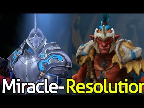Miracle- [Sven] VS Resolution [Troll Warlord] Insane Come Back - Dota 2 FPL PRO League