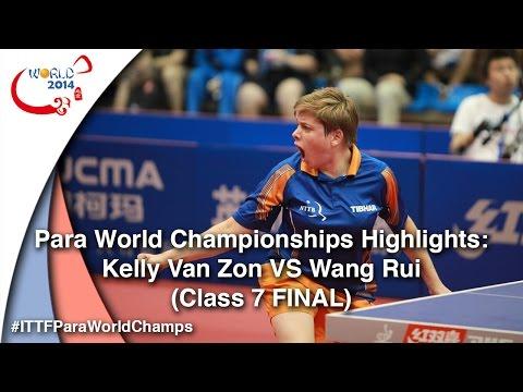 ITTF PTT WC 2014 Highlights: Kelly Van Zon VS Wang Rui (Class 7 FINAL)