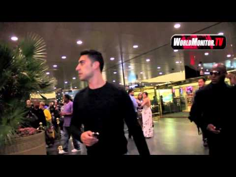 Adam Sabbagh leaving Floyd Mayweather vs Cotto fight at MGM Grand Las vegas