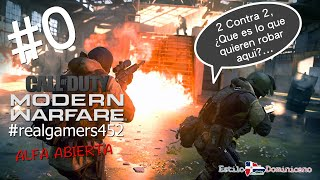 Call of Duty Modern Warfare Multiplayer #1 Alfa Abierta 2vs2... Directo.