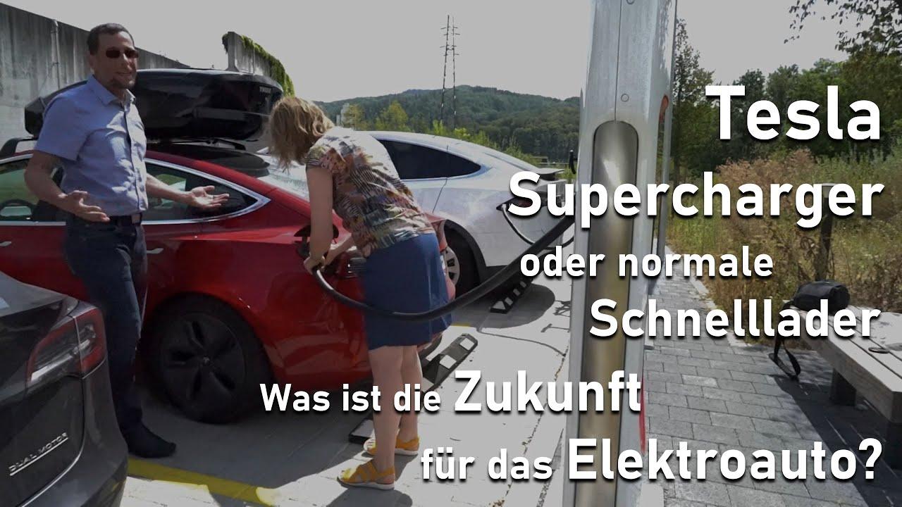 Video: Tesla Supercharger oder normale Schnelllader - Was ist die Zukunft für das Elektroauto?
