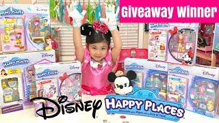 Disney Happy Places Giveaway Winner! Belle House Minnie Mouse Cinderella Home Decors Surprise Books
