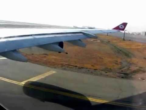 Take off from IKA ( Tehran Imam Khomeini International Airport ) by Turkish Airlines 2012 Iran