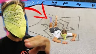 BLIND FOLDED GAME OF FLIP! (SUPER TRAMPOLINE PARK)