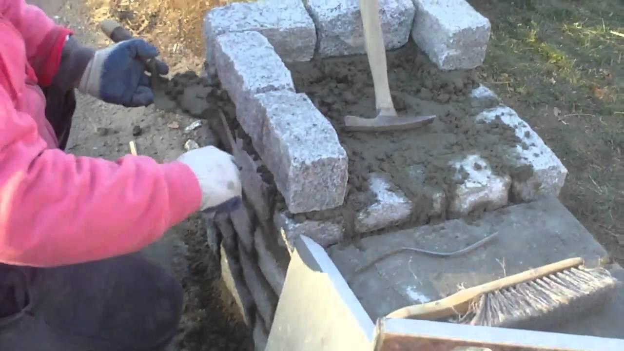 Building A Stone Pillar Youtube