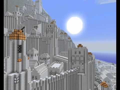 Minecraft mega buildings - Minas Tirith