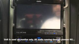 "Going through the functions on a Clarion VZ409 7"" LCD flip out monitor"