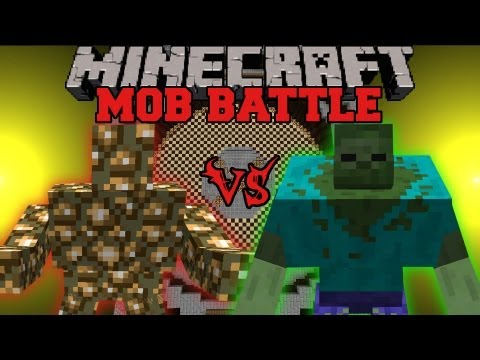 Mutant Zombie Vs. Glowstone Monster - Minecraft Mob Battles - Angry Creatures Mo