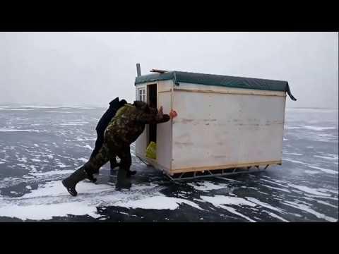 домики для рыбалки на санях