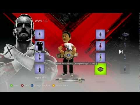 WWE 13 - Xbox 360 Avatar Items