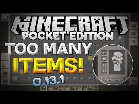 BEST TOO MANY ITEMS MOD For 0.13.1! - Minecraft PE (Pocket Edition)