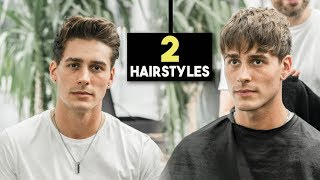 Mens Haircut - 2 Fall Hairstyles | Textured Fringe & Messy Quiff | BluMaan 2018