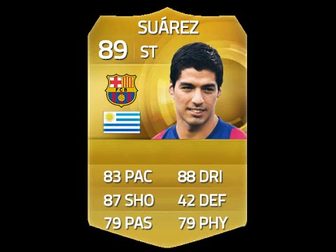Fifa 15 Suarez 89 Player Review & In Game Stats Ultimate Team video