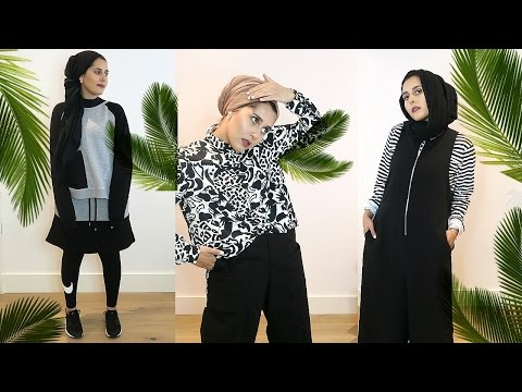 HOW TO LOOK COMFY CHIC  MONOCHROME LOOKBOOK
