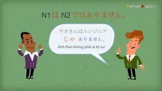 Tiếng Nhật online minna nonihongo [N1 là N2] Vietnamjapan.vn