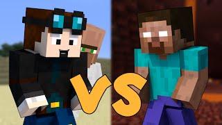 TheDiamondMinecart VS Herobrine - Minecraft