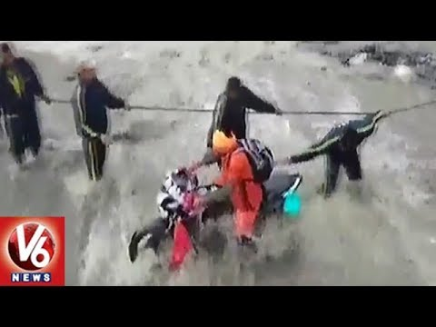 Large Number Of Kanwariyas Stuck With Heavy Rains In Uttarakhand | V6 News