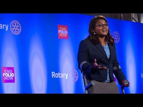 Minda Dentler no World Polio Day 2014