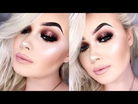 Rose Gold Summer Night Glam | Makeup Tutorial