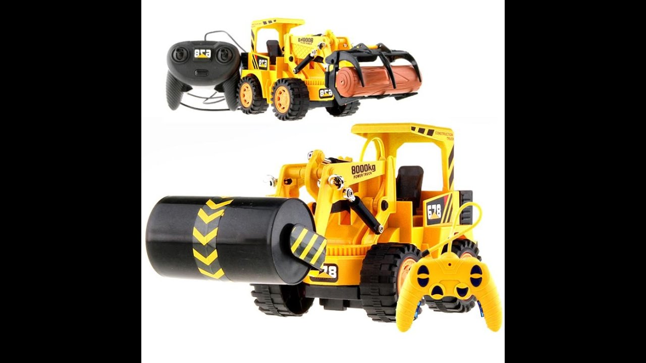 Remote Control Construction Toys : Remote control construction vehicles toys for kids youtube