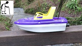 RC Jet Boat on the brook - Weed Guard Essential