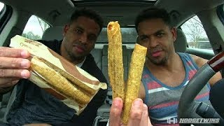 Eating Taco Bell's Rolled Chicken Tacos @hodgetwins
