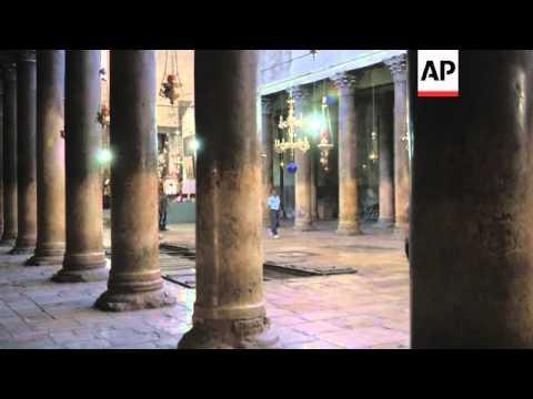 Palestinians push Nativity church as UNESCO site