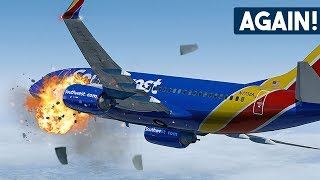 Boeing 737 Suffers ANOTHER Catastrophic Engine Failure After Takeoff | Southwest Airlines 3472