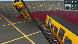 Funny train accident (trainz 2010)