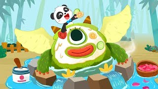 Baby Panda's Monster Spa Salon   Makeup for Kids   Learn Colors   Kids Games   Pretend Play  BabyBus