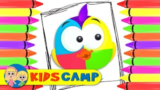 Cute Duck Face Painting and Coloring with Crayons by KidsCamp