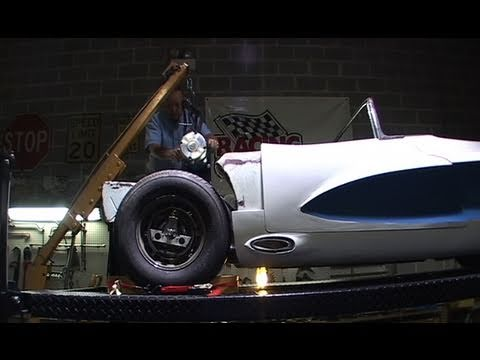 The electric motor is installed in the LaSalle Roadster at Pioneer Conversions in Lemont, Illinois. The wheels go round. From the Bortz Auto Collection. The ...