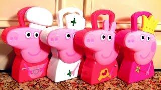 Coleção 4 Maletas Multikids Peppa Pig Maleta de Jóias, Maleta Chef de Cozinha, Maleta Cabelereiro