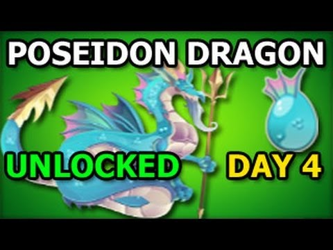 POSEIDON DRAGON Unlocked Dragon City Olympus Island Poseidon Temple Quest DAY 4