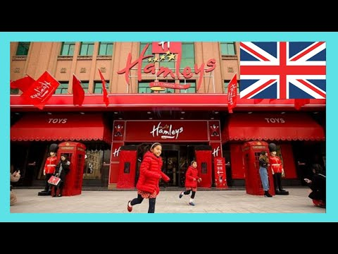 Hamleys, a busy and chaotic toy store, London