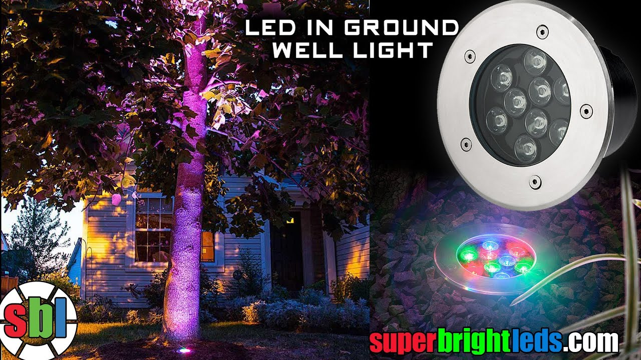 Led In Ground Color Changing Well Light High Power Rgb