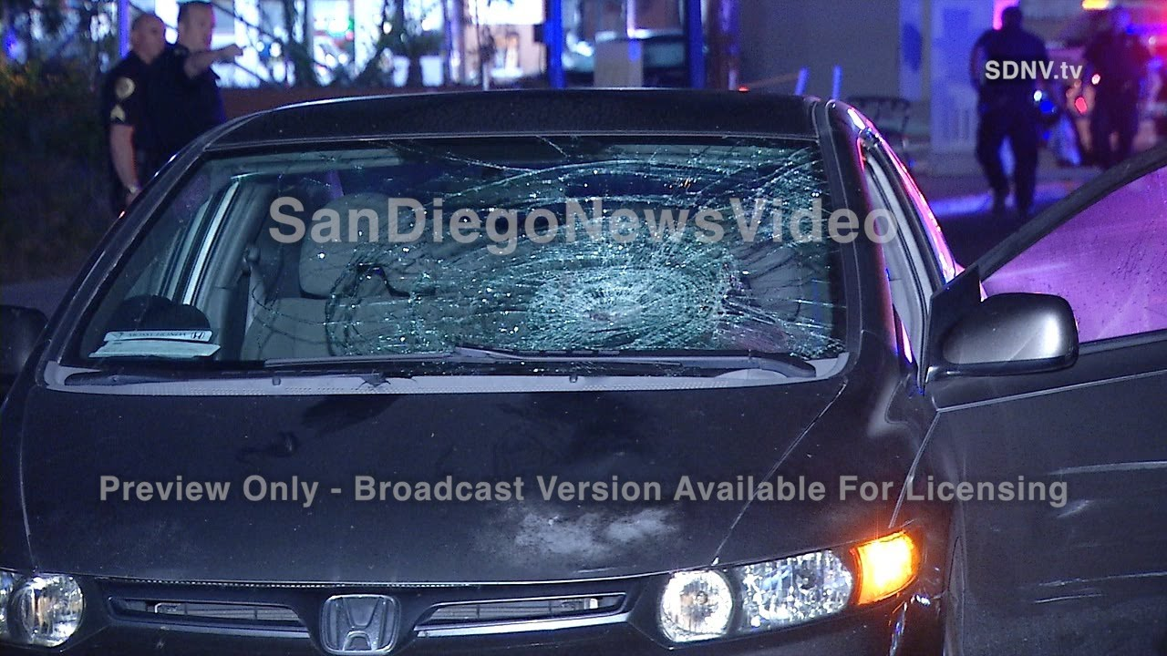 PEDESTRIAN STRUCK BY SEDAN