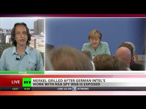 Merkel grilled after German Intel's work with NSA spy web is exposed