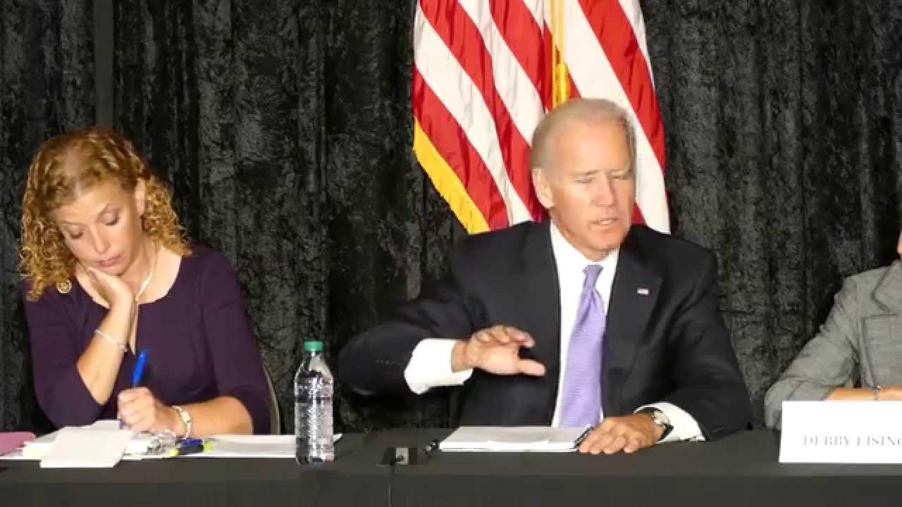 Joe Biden, Debbie Wasserman Schultz talk Iran deal