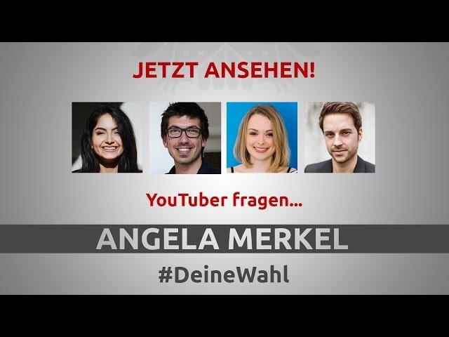 DeineWahl - YouTuber fragen Angela Merkel  Mit Ischtar Isik, AlexiBexi, MrWissen2go, ItsColeslaw