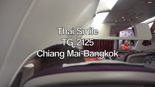 (HD) Thai Smile Airbus A320 (Sharklets) Flight Report: TG 2125 Chiang Mai to Bangkok