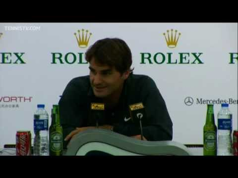 Federer Discusses Shanghai Loss To Murray In Semis