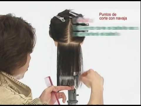 Corte de pelo con navaja Feather-03 puntos de corte-Fejic España (Castellano)