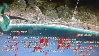 Google Earth Fishing - Destin Reef Overview