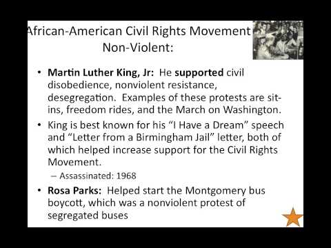 STAAR Review Part 4 Civil Rights Movements