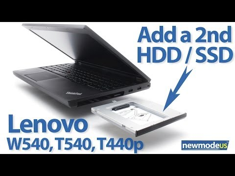 Replace optical drive with SSD or HDD on Lenovo ThinkPad T440p. T540. W540