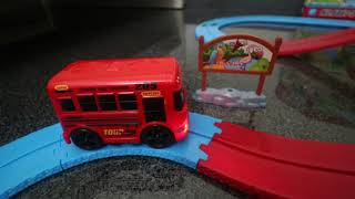 Track Zoo Happy Bus Track Induction with Sound Music Light Kids