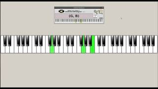 Holy Spirit Living Breath of God(Kristyn Getty) Piano Accompaniment(keyboard & chord structure view)