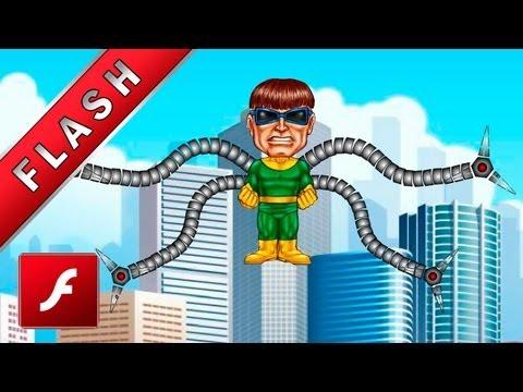 Animación Dr Octopus - Tutorial de adobe Flash - Herramienta hueso